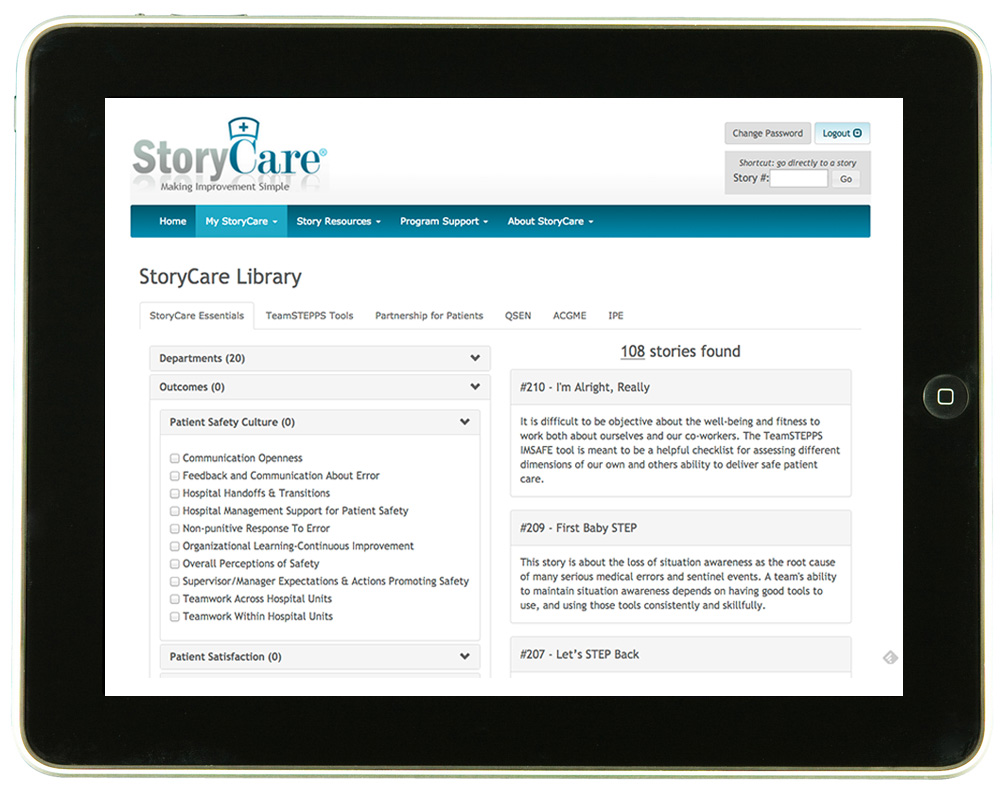 photo relating to Library Story Password called Basic Equipment Â« StoryCare